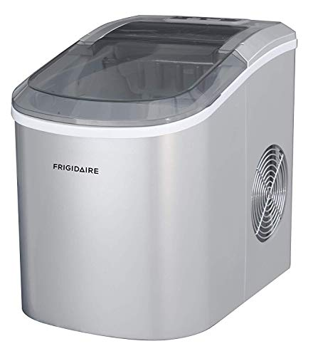 Frigidaire ICE206 Counter Top Compact Ice Maker, Silver, with See-through Lid (Renewed) (Igloo Portable Ice Maker)