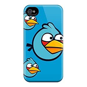 Sanp On Case Cover Protector For Iphone 4/4s (blue Angry Birds)