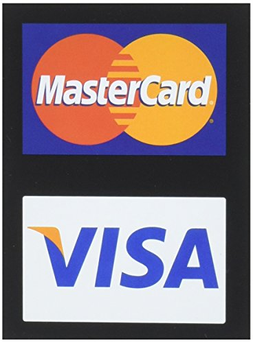 MasterCard/Visa Credit Card Decals (4 Pack)