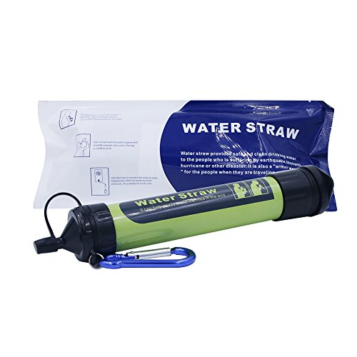 Haonyac Filtration Straw -Portable Water Filter Straw Purifier Survival Gear and Survival Kit, 1500L Emergency Camping Equipment 3-stage Filtration,0.2 microns, Survival Kit Hurricane Storm Supplies by Meter Sunshine