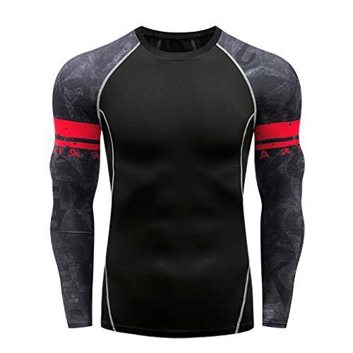 RoDeke Sport T-Shirts for Men - Quick Dry Wicking - Yoga Running Jogging Tops Training Tee Long Sleeve Sportswear Black