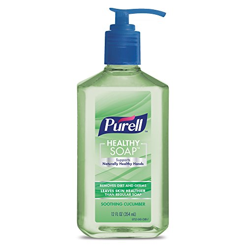 Purell Healthy SOAP Soothing Cucumber, 12 fl. oz. Pump Bottle (Pack of 2) - (Antiseptic Lotion Hand Soap)