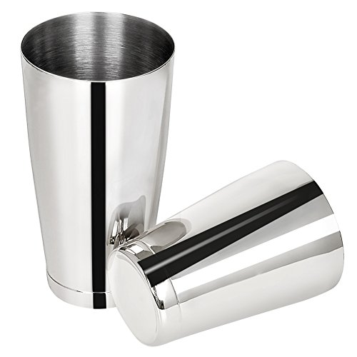 Barfame Boston Shaker Tins 304 Stainless Steel Cocktail Shaker with 2 Pieces: 18oz & 28oz (Silver)