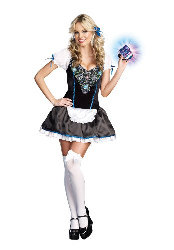 Dreamgirl Women's Beer-ly Legal Dress, Multi, (Beer Girl)