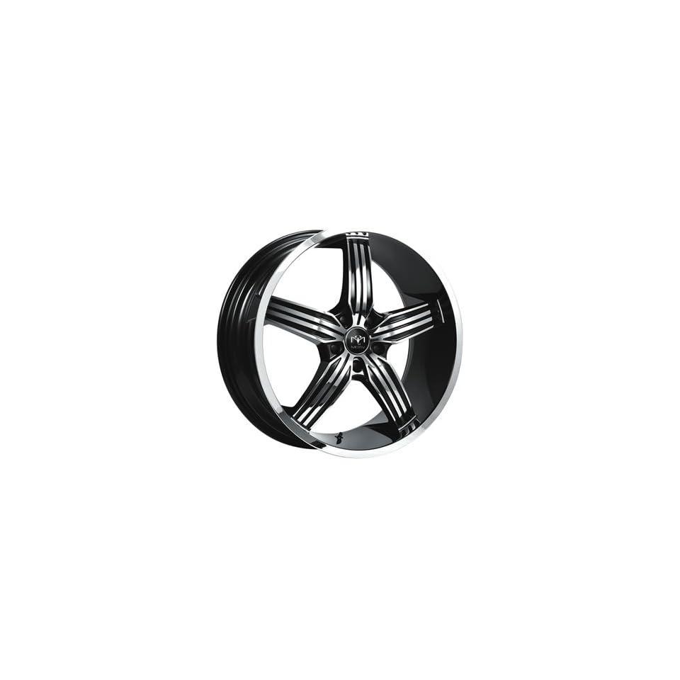 Motiv Motion 20x10 Chrome Black Wheel / Rim 5x4.5 with a 44mm Offset