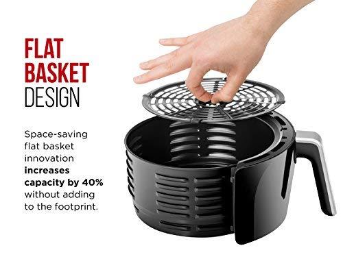 Chefman 6.5 Air Fryer Saving Flat Basket Hot Safe Timer and Off, Free, Size, X-Large, Manual