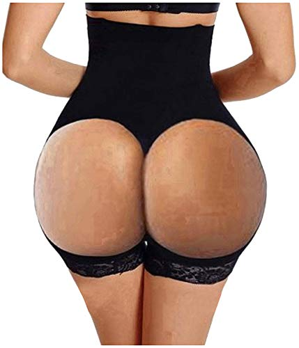 Hourglass Figure Butt Lifter Shaper Panties Tummy Control High Waisted Boyshort (Black, 3XL/4XL(Prime))