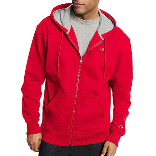 (Champion Men's Big & Tall Full Zip Fleece Hoodie (3XL, Team Red))