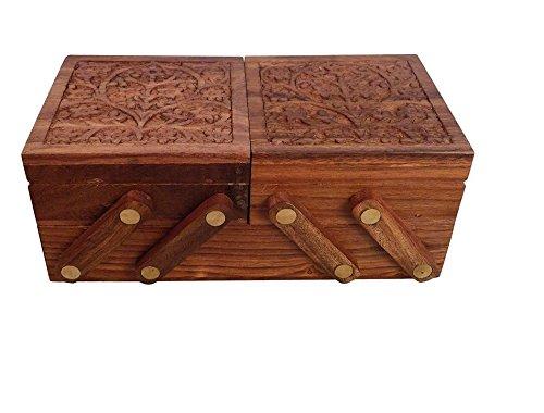 Christmas Gift/ Christmas Sale Crafts'man handmade Wooden Sliding Jewelry Box/ Chest/Keepsake w... by Crafts'man