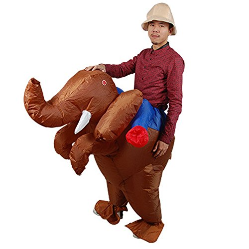 Inflatable Elephant Costumes For Adults (Vantina Inflatable Rider Halloween Costume Adult Carry On Animal Halloween Suit)