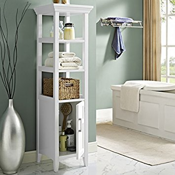 100 Percent MDF made with Hayes Bath Storage Tower in White and fashionable storage