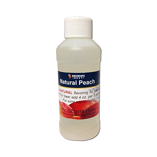 Brewer's Best 3718 Natural Beer and Wine Fruit Flavoring (Peach), 4 fl.oz.