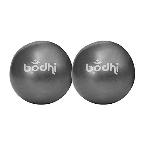 Pilates Toning Ball, 2er Set, je 0,5 kg, Ø 12 cm, anthrazit