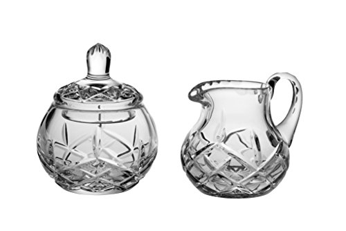 Barski - Hand Cut - Mouth Blown - Crystal - Sugar & Creamer - Set - Made in Europe (Crystal Pitcher Set)