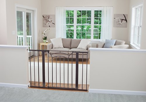 Safety-1st-Dcor-Easy-Install-Tall-Wide-Walk-Thru-Gate-36-High-Fits-Spaces-between-29-and-47-Wide