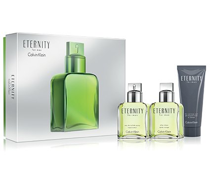 ETERNITY Gift Set for MEN - 3.4 oz. EDT Spray + 3.4 oz. After Shave Splash + 3.4 Oz After Shave Balm - OR EMAIL FOR ANY OTHER PERFUMES - 100% AUTHENTIC & ORIGINAL - No Exceptions