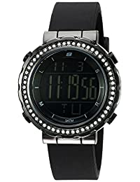 Skechers Women's SR6014 Digital Display Quartz Black Watch