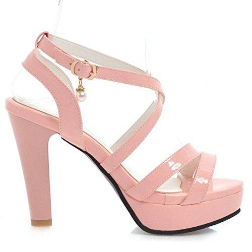 AicciAizzi Hauts Talons Croisee Femmes Pink Sangle Sandales rXwqRTr