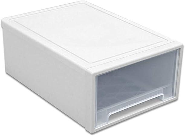 Godyluck Caja de Almacenamiento Organizador de plástico Transparente cajón de Ropa Transparente apilable Cajas del Armario del Armario Engrosada: Amazon.es: Hogar