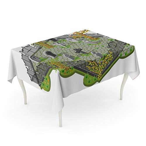 Tarolo Rectangle Tablecloth 52 x 70 Inch Green