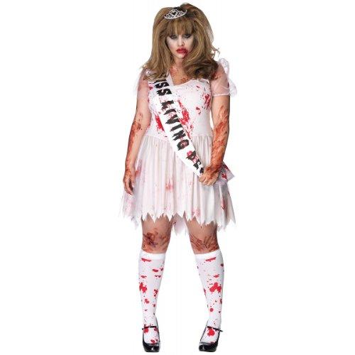 Putrid Prom Queen Adult Costume - Plus Size (Zombie Prom Queen Costume Plus Size)