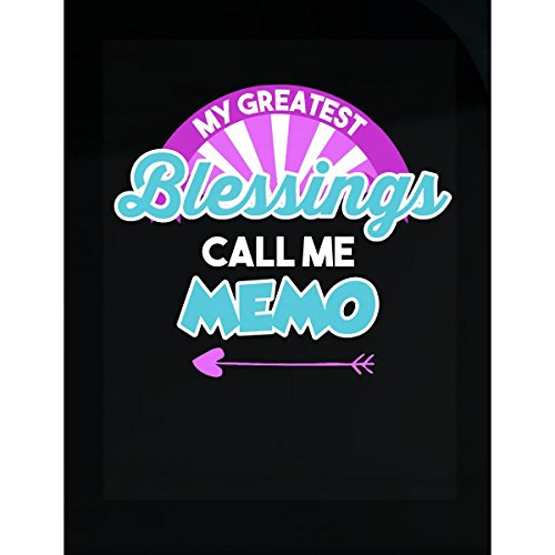 Prints Express My Greatest Blessings Call Me Memo Personalized Gift - Sticker