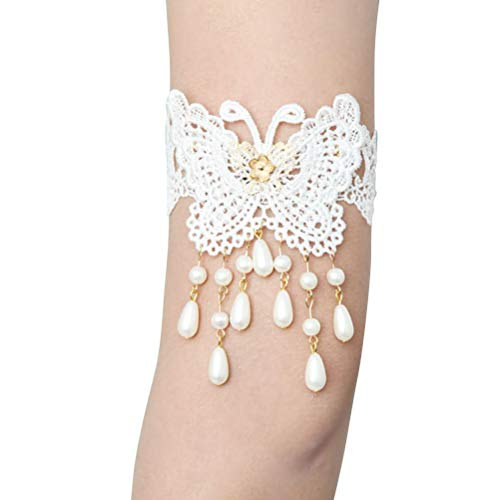 FENICAL Arm Harness Armband Slave Chain Cuff Armband Armlet Bracelet Bridal Bridesmaid Wedding Party Accessories