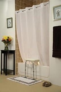 Simplicity Transfer Bench Shower Curtain(Coloru003dBeige)