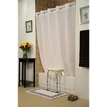 Amazon.com: Whitaker Transfer Bench Shower Curtain(Color=White ...