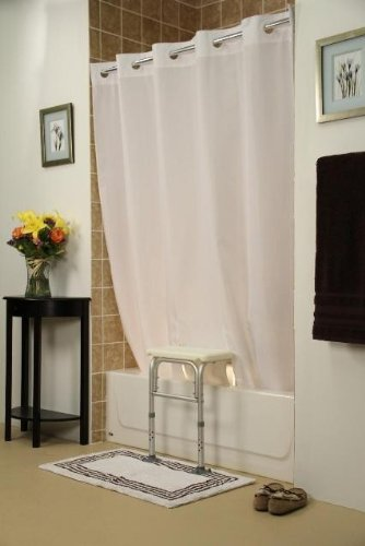 Amazon Simplicity Transfer Bench Shower CurtainColorWhite