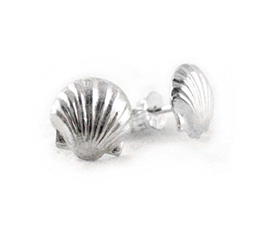 Sterling Silver Scallop Shell Post ()
