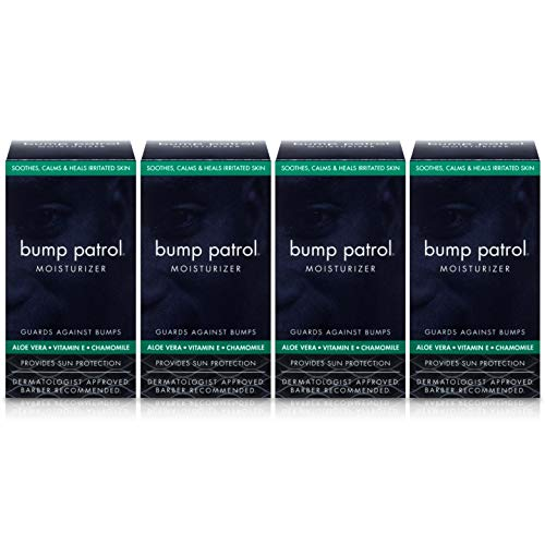 - Bump Patrol Everyday Skin Moisturizer - Aloe Vera, Vitamin E, Chamomile Guards Against Razor Bumps, Ingrown Hairs - 1.69 Ounces 4 Pack
