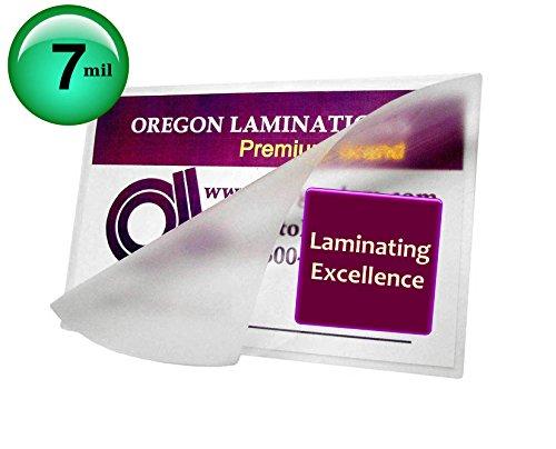 Oregon Laminations Premium 7 Mil 4x6 Photo Hot Laminating Pouches 4-1/4 x 6-1/4 (Pack of 500) Clear by Oregon Lamination Premium