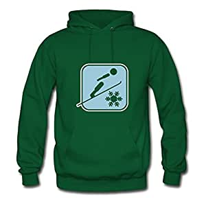 Diatinguish Lovely Customized Sweatshirts Cotton Ski_jumping_2c X-large Women Green