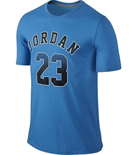 [658655-435] AIR JORDAN JORDAN RISE 4 DRI-FIT TEE APPAREL T SHIRT AIR JORDANLIGHT BLUE BLACK WHITE