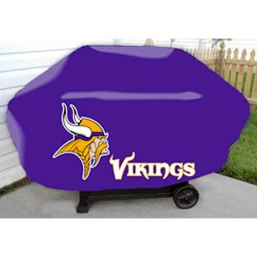 Minnesota Vikings Grill Cover - Caseys Minnesota Vikings NFL Deluxe Grill Cover