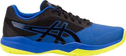 ASICS Gel-Game 7 Men's Tennis Shoe, Black/Illusion Blue, 9.5 D US