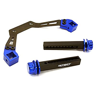Integy RC Model Hop-ups C27862BLUE Adjustable Front Body Mount & Post Set for Traxxas Stampede 4X4