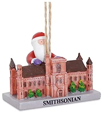 Scout & Company Smithsonian Santa Christmas Ornament | Washington DC Landmark Museum Gifts for Historians History Social Studies Teachers Men Women Students Tourists