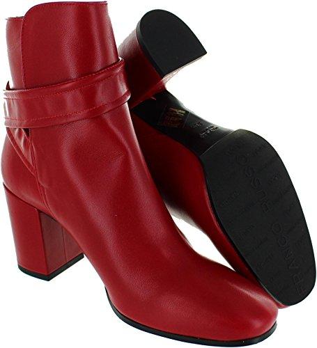 für Damen Napoli Stiefeletten Russo Leder 7432 Franco xUqwTC8Xw