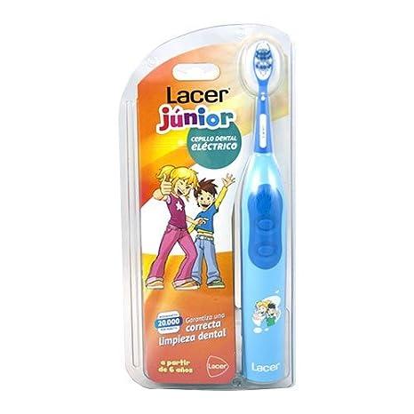 Lacer Cepillo Eléctrico Recargable Junior Azul: Amazon.es: Salud y cuidado personal
