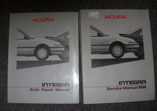 1986 Acura Integra Service Shop Repair Manual SET OEM (service manual, and the body repair (1986 Acura Integra Shop)