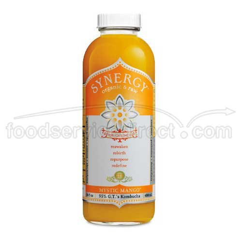 GTs Enlightened Synergy Organic and Raw Kombucha Mystic Mango, 16 Ounce -- 12 per case. by GTs Kombucha
