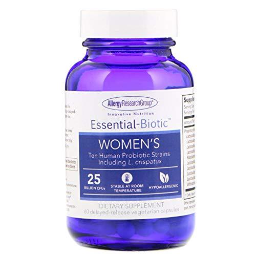 Allergy Research Group Essential-Biotic Women s 25 Billion CFU s 60 Delayed-Release Vegetarian Capsules
