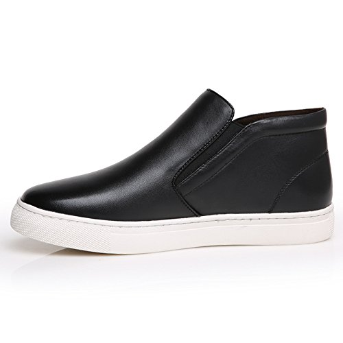 WZG zapatos de los hombres ocasionales de los zapatos del nuevo algodón acolchado de invierno más cálido terciopelo de los hombres de Martin botas botas de algodón , black , 39