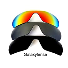 Galaxy Replacement Lenses For Oakley Offshoot Polarized Black&Titanium&Red 3Pair