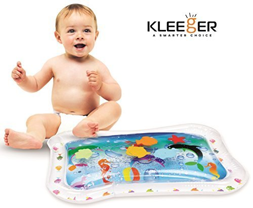 KLEEGER Inflatable Baby Water Mat: Fun Activity Play Center. for Children & Infants, Multicolor