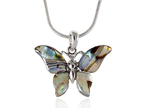 [Alilang Petite Green Natural Sea Shell Butterfly Custom Jewelry Fashion Necklace Pendant] (Butterfly Costume Jewelry)
