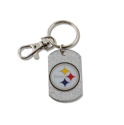(aminco NFL Pittsburgh Steelers Glitter Key Ring)