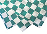 Durable Packaging Checkered Wax Sheets, 12'' x 12'', Green (Pack of 5000)